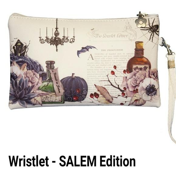 Nstilla Handbags - Salem - Halloween wristlet/pouch